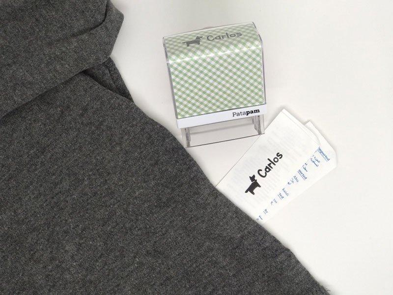 Como marcar la ropa oscura con los sellos textiles Patpam.