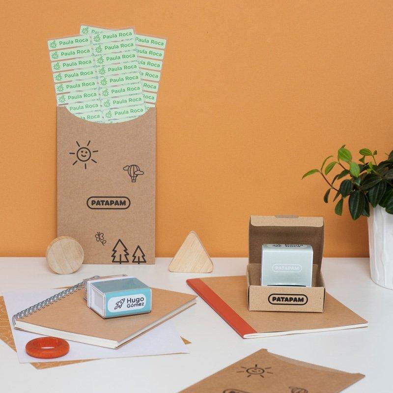 Sellos y etiquetas termoadhesivas para marcar ropa y papel
